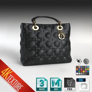 lady dior handbag 3D model