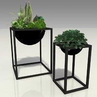 3D modern planters