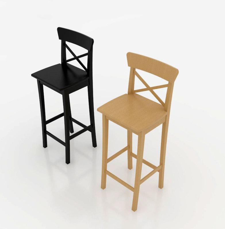 3D ingolf bar stool model