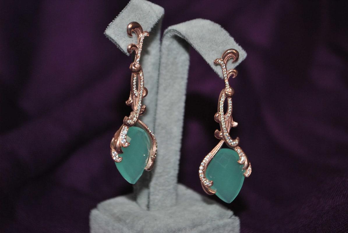 3D stone earrings