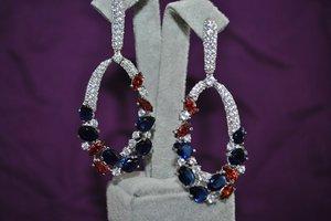 3D gems earrings model