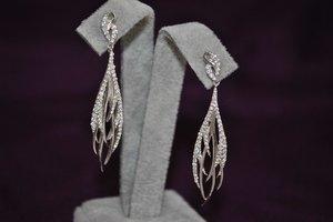 3D earrings gem matrix