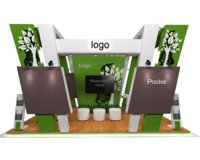 exhibition stand fabrication nature 3D model