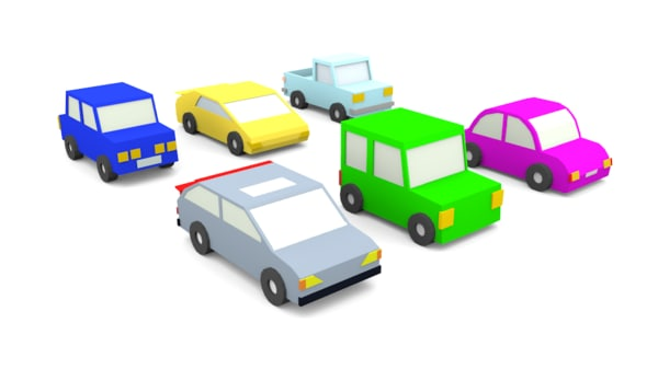 3D cartoon cars