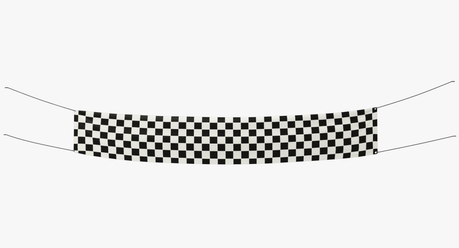 racing banner 3D