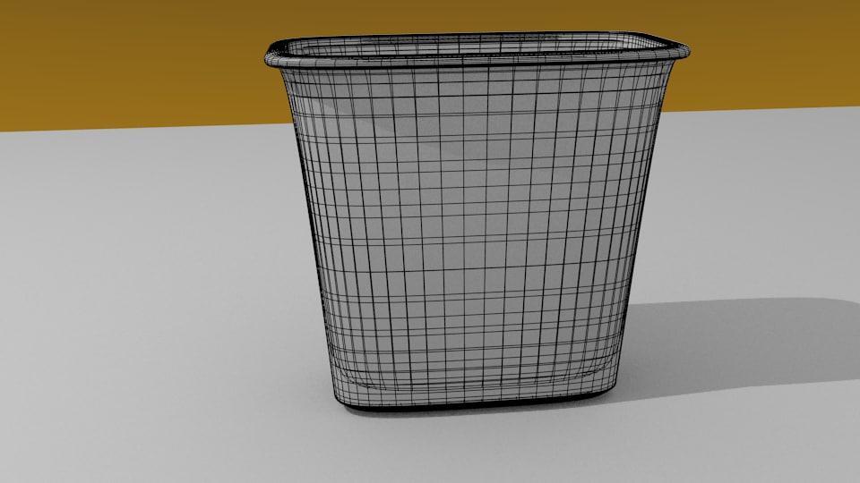 office wastebin 3D model