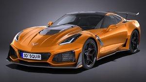 3D chevrolet corvette zr1 model