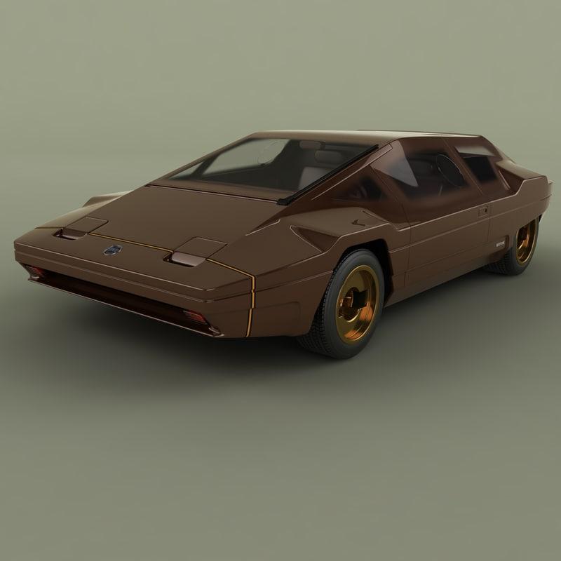 1978 lancia sibilo 3D model