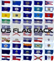 3D model pack flags