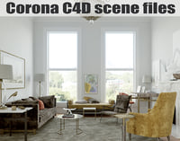 Corona for C4D Scene files - Living Room
