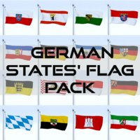 pack flags german 3D model
