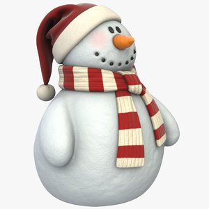 realistic snowman pbr 3D model