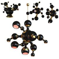 3D atomic suspension light model