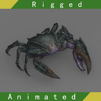 crab rigged 3D