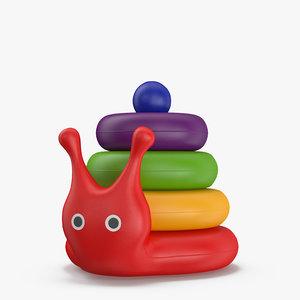 toy pyramid snail 3D model