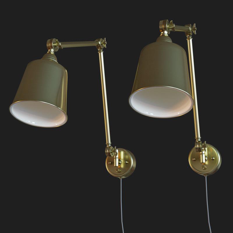 3D mendes antique brass wall