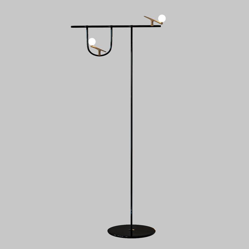 3D floor lamp yanzi neri model