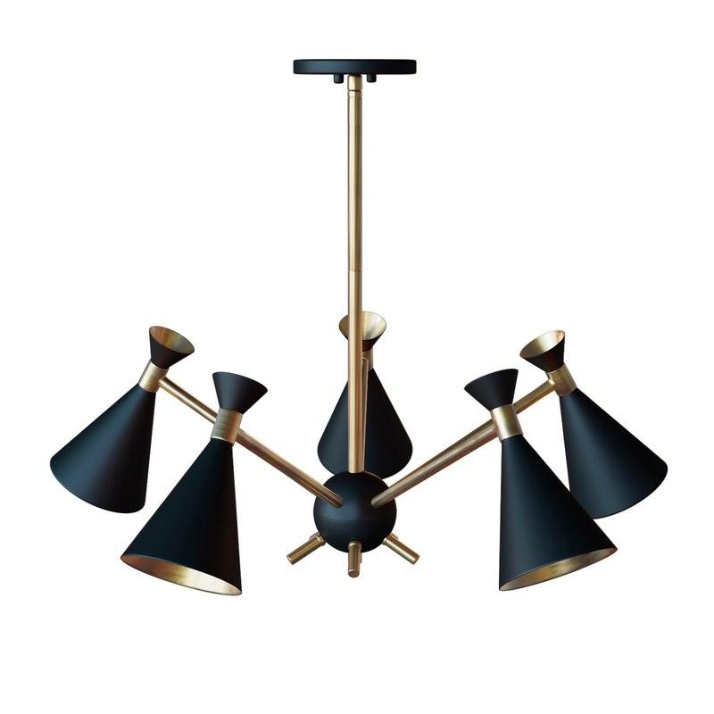 draper 5-light chandelier design 3D model
