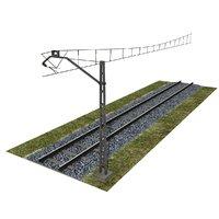 3D railway moduler model