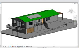 revit residential building villa 3D model