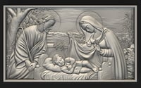 bas relief jesus birth 3D model