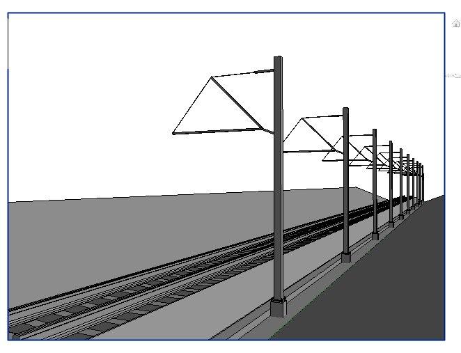 3D revit rail model