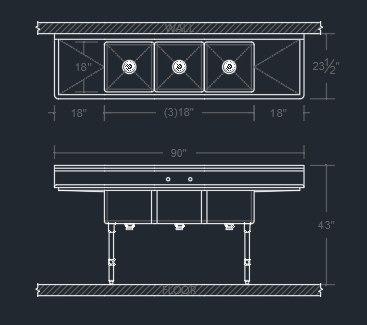 3D revit family sink