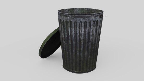 dustbin 3 old 3D model