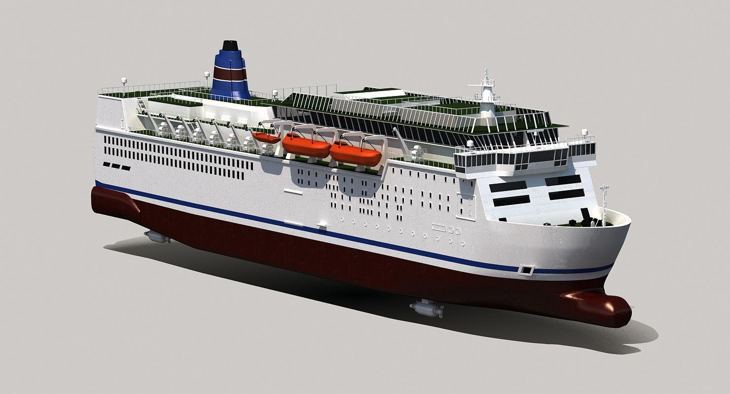 3D model car ferry