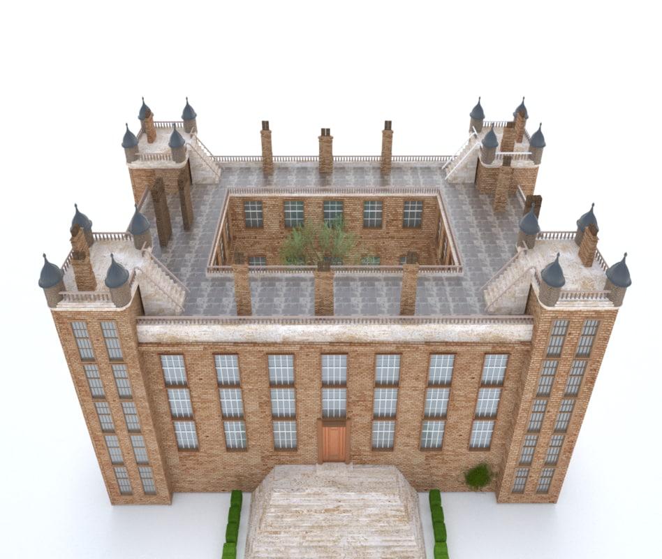 building brick 3D model