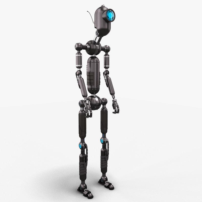 robot oddy stylized 3D model