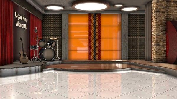 3D model set television