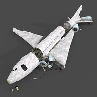 wrecked airplane 3D model