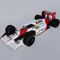 3D cars mclaren mp4 4