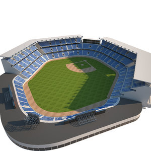 3D baseball stadium basebal model