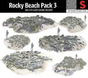 rocky beach pack 3 3D model
