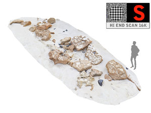 3D rocky beach ultra hd model