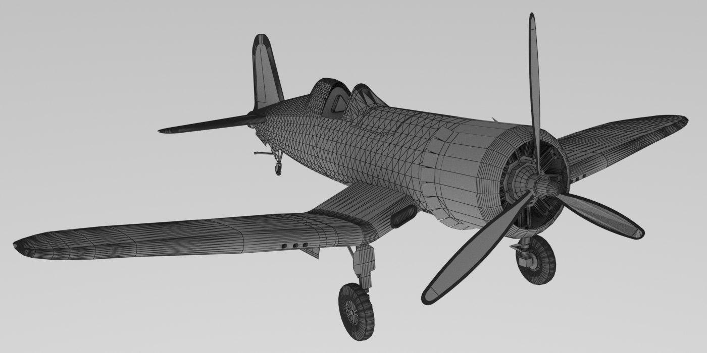 corsair fighter 3D