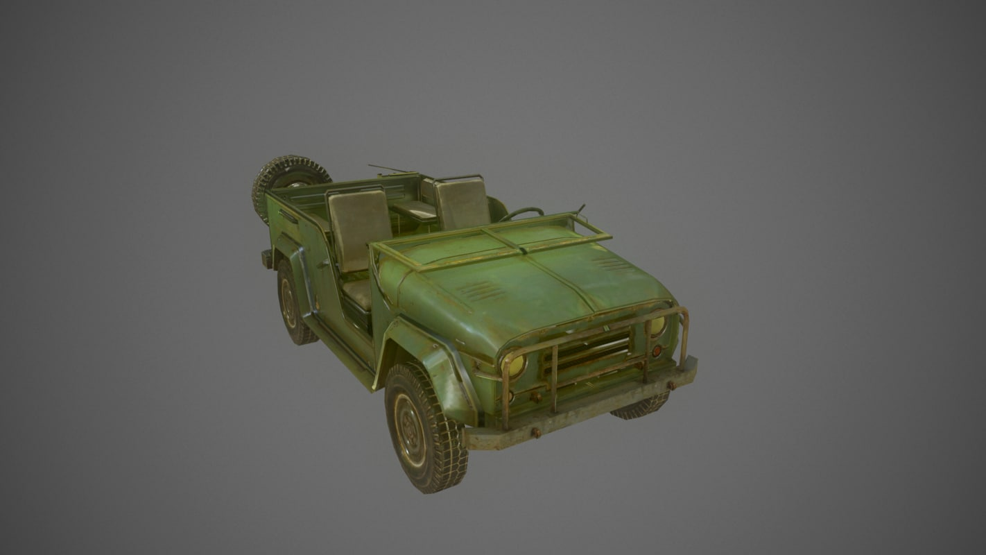 3D ready military jeep - model