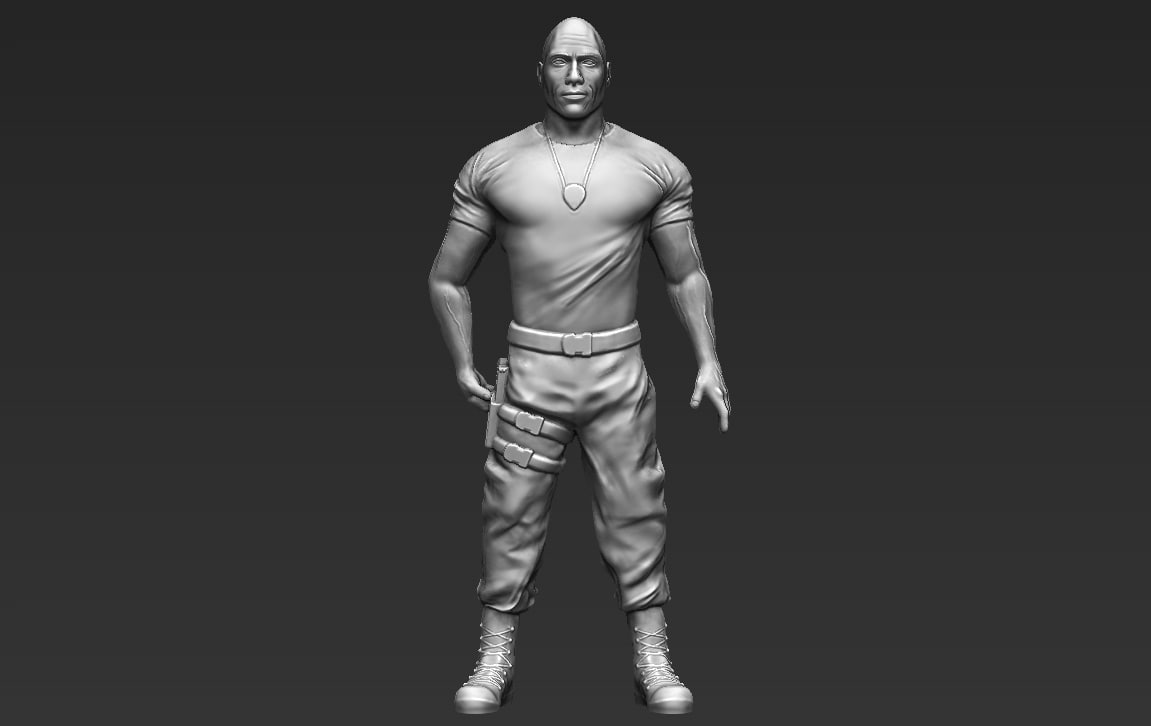 3D model dwayne rock johnson fast