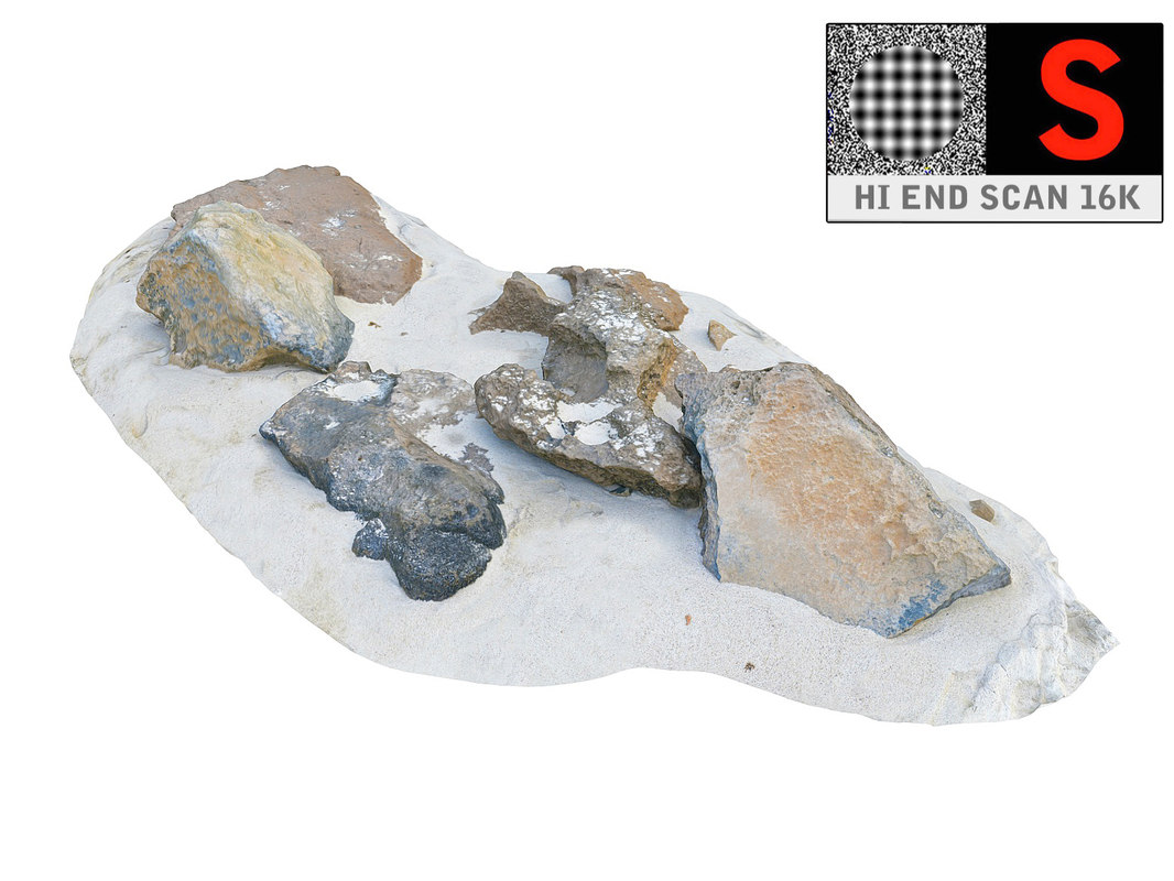 rocky beach ultra hd 3D model