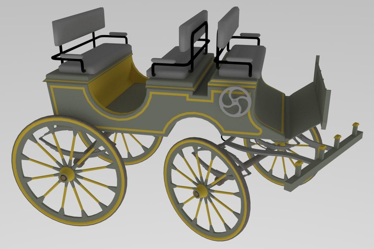 3D western phaeton