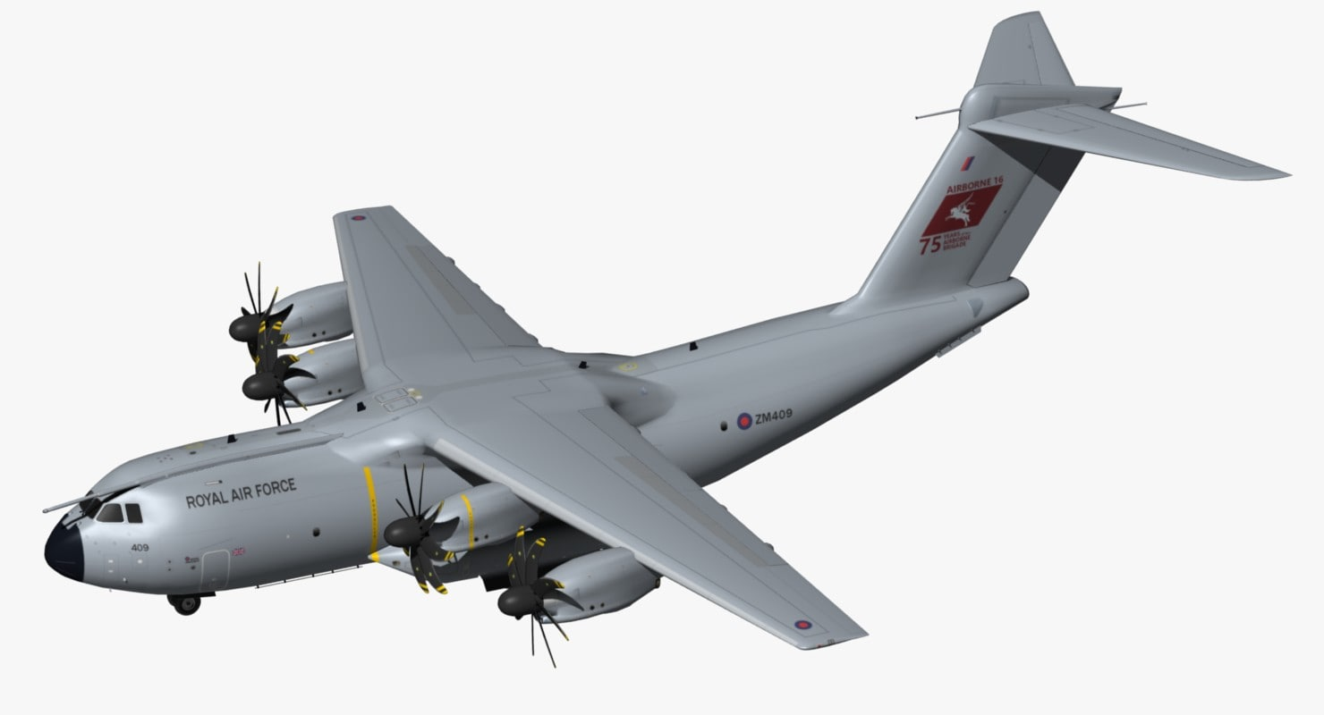 airbus a400m royal air force model