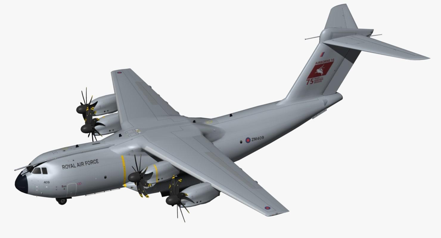 airbus a400m royal air force model