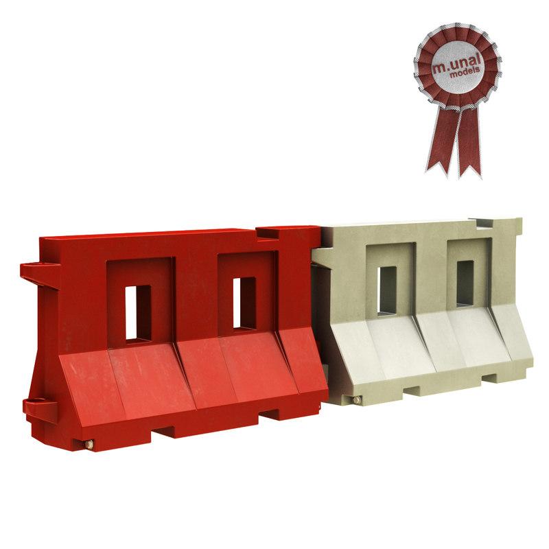 3D plastic barrier model