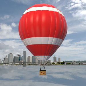 balloon hot air 3D model