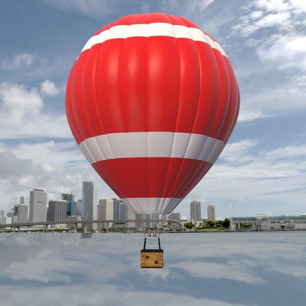 balloon hot air 3D model