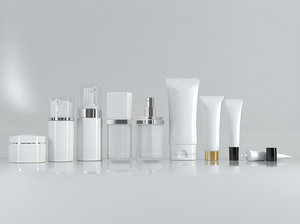 3D cosmetic bottle tube set