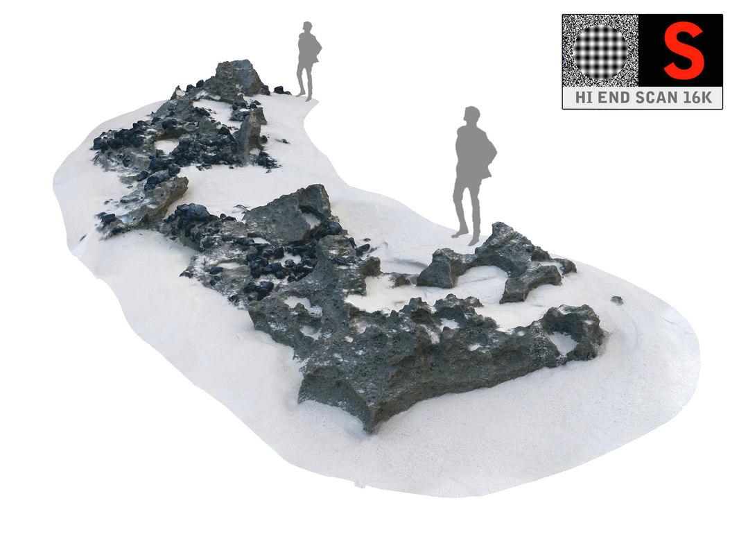 3D rocky beach ultra hd