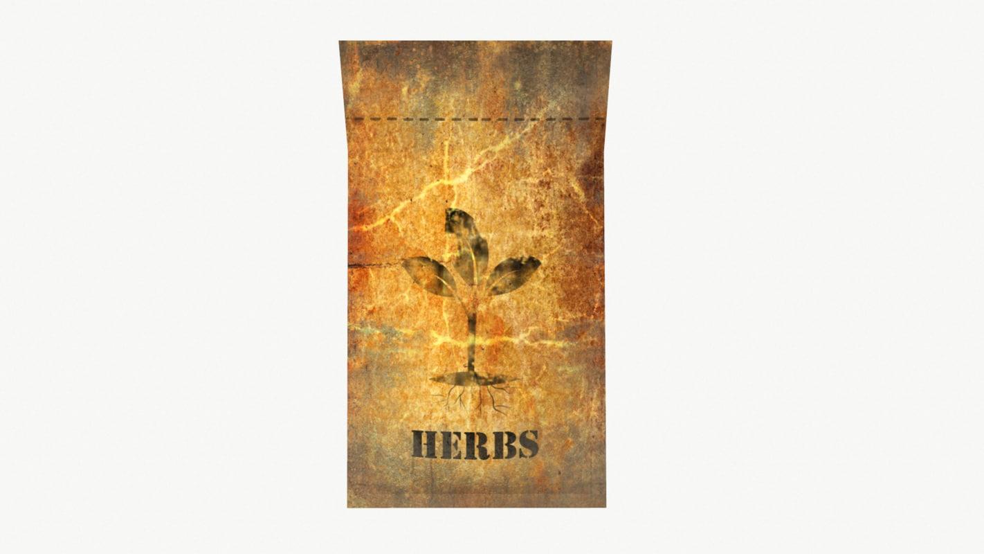 herbs 3D model